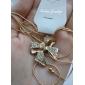 Жен. В форме банта Elegant Ожерелья-бархатки Ожерелья с подвесками Хрусталь Сплав Ожерелья-бархатки Ожерелья с подвесками , Свадьба Для