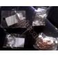 bloqueio moda shixin® cadeia torcida& pulseira link (cor aleatória)