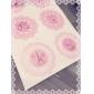 Redondo bonito Lace Pattern Sticker (cores aleatórias)