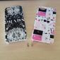Pour Coque iPhone 5 Etuis coque Ultrafine Transparente Motif Coque Arrière Coque Noir & blanc Dur Polycarbonate pour iPhone SE/5s iPhone 5
