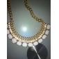 Женский Ожерелья с подвесками Заявление ожерелья Синтетические драгоценные камни Стразы Сплав Мода Массивные украшения Pоскошные