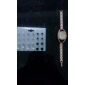여자의 디아 망테 케이스 다이얼 금 합금 밴드 석영 아날로그 팔찌 시계 (분류 된 색깔)