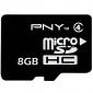 8gb class pny 4 microSDHC cartão de memória tf