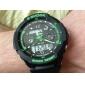 SKMEI Муж. Наручные часы Армейские часы Спортивные часы Кварцевый Японский кварц Будильник Календарь Защита от влаги LED С двумя часовыми