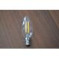 E14 Ampoules à Filament LED CA35 4 diodes électroluminescentes 380lm Blanc Chaud 3000-3500K Décorative AC 100-240