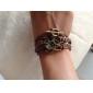 manquer rose®multilayer bracelets en cuir alliage dragon main
