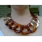 Vintage  (Leopard) Gold Alloy Statement Necklace() (1 Pc)