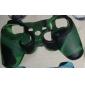 de protección de doble color de estilo funda de silicona para PS3 controlador (verde y negro)