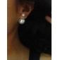 Женский Серьги-гвоздики Жемчуг Искусственный жемчуг Резина Серый жемчуг Розовый жемчуг Золотая жемчужина Черная жемчужина Бижутерия