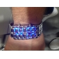 Herren Armband-Uhr Armbanduhr digital LED Kalender Edelstahl Band Cool Schwarz Schwarz