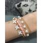 Z&X®  Artistic Pearl 45cm Women Golden Alloy Charm Bracelet(Multicolor,White)(1 Pc) Christmas Gifts
