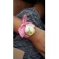 Жен. Нарядные часы Модные часы Наручные часы Часы-браслет Кварцевый Цветной Материал Группа Кулоны Цветы Винтаж Черный Белый