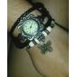 아가씨들 패션 시계 팔찌 시계 석영 PU 밴드 나비 보헤미안 블랙 블루 브라운 그린