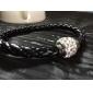 Women's Charm Bracelet Leather Bracelet Wrap Bracelet Basic Friendship Handmade Plaited Fashion Costume Jewelry Leather Rhinestone Jewelry
