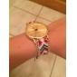 Women's Golden Case Chain Fabric Band Quartz Analog Bracelet Watch (Assorted Colors) Cool Watches Unique Watches Fashion Watch Strap Watch