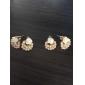 OL elegant pearl earrings earrings rose flower earrings female (random color)