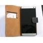 책 작풍 진짜 가죽 HTC 하나 M7에 대한 대 지갑 상자