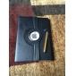 lichia rotativa couro pu com película protetora, caneta e ficha de poeira para ipad de ar 2