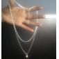 Femme Pendentif de collier Collier de perles Bijoux Perle Alliage Mode Simple Style Couche double bijoux de fantaisie Bijoux Pour Soirée