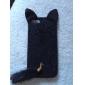 아이폰 5/5S 용 고양이 디자인 텍스타일 뒷면 케이스 (다양한 색상)