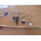 9v conector de encaixe da bateria para DC Masculino cabos adaptadores de energia para arduino - preto