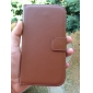 Solid Color Genuine Leather Full Body Cover with Card and Stand Case for Samsun Galaxy Grand Neo I9060 (Assorted Color)