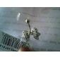 lureme®316l cristal de titânio de aço cirúrgico bowknot pontos negros piercing no umbigo