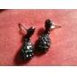 Boucles d'oreille goutte Imitation de diamant Alliage Goutte Blanc Noir Bijoux Quotidien