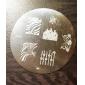1 Pièce M Series arrondi Conception abstraite Nail Art Stamp estamper Image de plaque No.69-72 (modèle assorties)