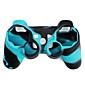 PS3 컨트롤러용 보호 듀얼 컬러 실리콘 케이스 (블루 & 블랙)
