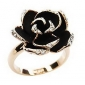 Women's Statement Rings Vintage Adjustable Open European Rhinestone Alloy Roses Flower Jewelry Party Daily Casual