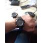 ASJ 남성용 손목 시계 석영 일본 쿼츠 알람 달력 크로노그래프 방수 LED LCD 듀얼 타임 존 스테인레스 스틸 밴드 사치 블랙