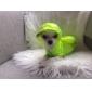 개 후드 강아지 의류 방수 솔리드 그린 블루 핑크