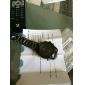 ASJ Homens Relógio de Pulso Quartzo Quartzo Japonês LED LCD Calendário Cronógrafo Impermeável Dois Fusos Horários alarmeAço