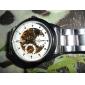 SHENHUA Мужской Наручные часы Механические часы С автоподзаводом С гравировкой Нержавеющая сталь Группа Серебристый металл