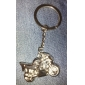 Metal Silver Cool Motorcycle Keychain