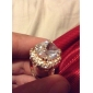 Women's Statement Rings Crystal Costume Jewelry Gold Plated Jewelry For Wedding Party Engagement Casual