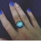 eruner®handmade галактика кольцо стеклянный купол кабошон туманность пространство кольцо (случайный цвет)