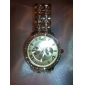 남성 아가씨들 남여공용 드레스 시계 회중 시계 손목 시계 일본 쿼츠 모조 다이아몬드 석영 합금 밴드 스파클 골드