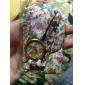 여성용 패션 시계 팔찌 시계 석영 밴드 꽃패턴 보헤미안 화이트