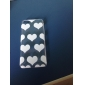 Transparent White Hearts Style Hard Back Case for iPhone 5C iPhone Cases