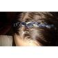 estilo boêmio faixa de cabelo couro trança dupla minimalista