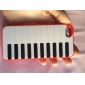 Стильный Фортепиано Ключ шаблон Пластиковые + Вернуться ТПУ чехол для iPhone 5/5s