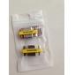 DE9 직렬 RS-232 여성 어댑터에 9pin 여성 (실버 & 노란색, 2 PCS)