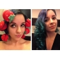 6 PCS 매직 딸기 스폰지 유행에 따라 디자인하는 머리 클립