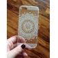 tampa traseira transparente / padrão mandala TPU tampa da caixa macia para Apple iPhone SE / 5s / 5