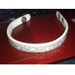 Four Row Crystal Leather Tennis Bracelet Fashion Jewelry Elegant Gifts