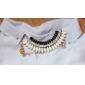 Женский Ожерелья-бархатки Слоистые ожерелья Резина Стразы Искусственный бриллиант Сплав европейский бижутерия Мода Многослойный Бижутерия