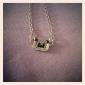 일본과 한국 판 유행 사랑스러운 판다 전체 다이아몬드 체인 목걸이 쇄골 N574
