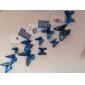 Animaux Romance 3D Stickers muraux Autocollants muraux 3D Autocollants muraux décoratifs Autocollants de frigo,Vinyle MatérielAmovible